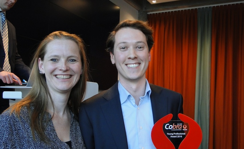 Stef Bank winnaar Cobra Award 2016